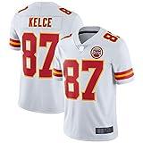 HAOBIN Uniforme Hombres NO.87 Football Sportswear T-Shirt Uniforme Hombres Jersey Jugador Juego para Deportes y Ropa Causal Jersey - Blanco