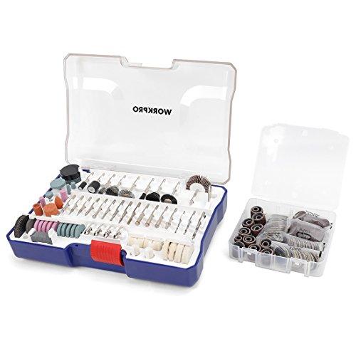 WORKPRO 295-teilig Drehwerkzeug Zubehör Einsatz Satz Polier Kits, einfache Schneiden, Schneiden und Polieren