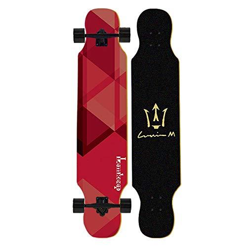 Komplette Maple Concave Deck Longboard Skateboard 42 Zoll Freeride Cruiser für Erwachsene Kinder Jungen Jugendliche Anfänger Cruisen/Tanzen/Downhill- # 2