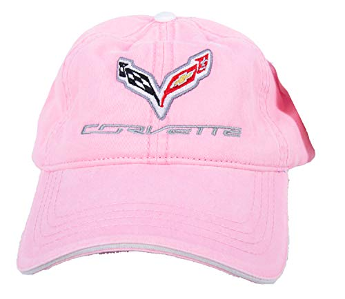 Chevy Corvette C7 Hat Embroidered Cap, Pink