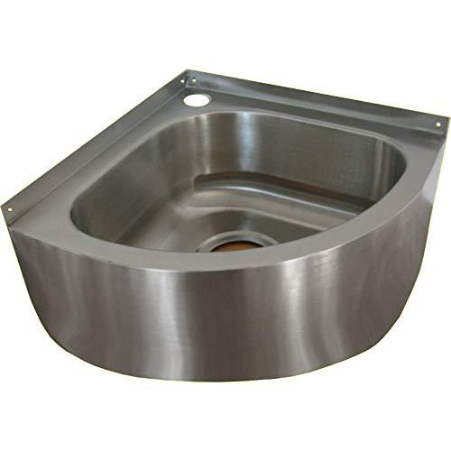 HoSanit 10120041 wastafel Mini-Eck-WT, roestvrij staal