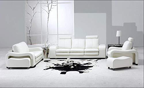 BIPL Sofas & Sofas Sofa Corner Sofa Set Weiße Sofasets Aus Echtem Leder