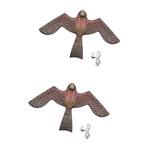 F Fityle Águila Cometa Repelente de Aves Extensible, Cometa Scarer Flying  Hawk Comedora Flying Bird Kite - 2 Piezas