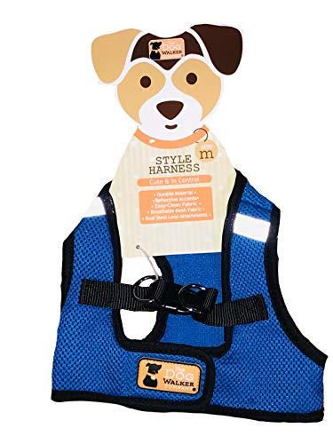 The Dog Walker Company Cobalt Blue with Black Trim Harness Vest Medium