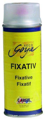 Kreul 800400 - Solo Goya Fixativ, 400 ml Spraydose, hochtransparenter, nicht glänzender Schutzfilm für Kreide-, Kohle- und Buntstiftzeichnungen sowie für Tempera- und Aquarellfarben
