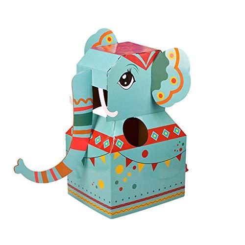 Dinosaurier-Spielzeug aus Pappe, verdicktes Papier, zum Verkleiden von Kleidung, für Kindergarten Gr. One size, elefant