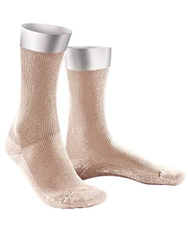 Weissbach Komfort-Socken ohne einschneidenden Gummibund Sand