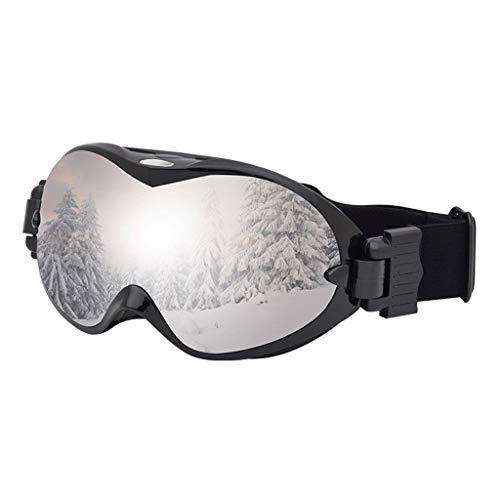 RWX Gafas de esquí Anti-Niebla de Doble Capa, Gafas de esquí de la Myopia de Coca esféricas, para Hombres y Mujeres Equipos Deportivos al Aire Libre (Color : Black Frame Silver Film)