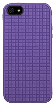 Speck PixelSkin HD Hard Shell Clip-On Case Cover for iPhone 5/5S/SE - Grape Purple