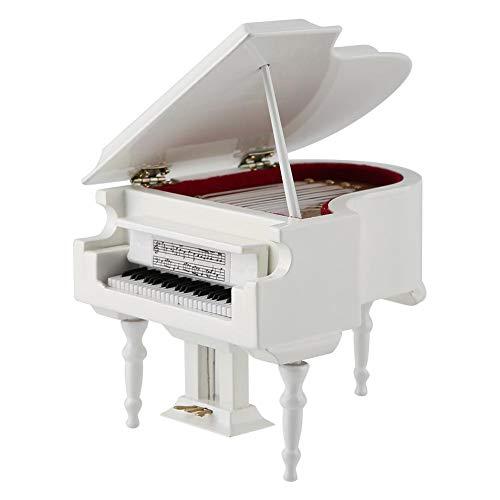 Miniatur Piano Delicated Holz Mini Instrument Ornament mit Bank und Fall, perfektes Geschenk für Kinder oder Musiker Freunde