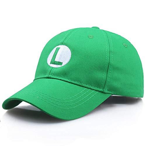 ShAwng Anime Super Mario Hat Cap Luigi Bros Cosplay Disfraz de béisbol Disfraces de Fiesta de Carnaval de Halloween Prop Gift Niños Adultos al por Mayor