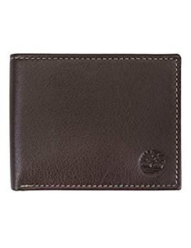 Timberland Men s Leather Wallet with Attached Flip Pocket Brown  Blix  One Size