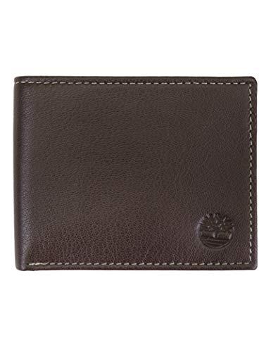 Timberland Herren Leather Wallet with Attached Flip Pocket Reisezubehör - zweifach gefaltetes Portemonnaie, Braun (Blix), Einheitsgröße