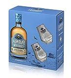 LAMBAY WHISKEY, Small Batch Blend, Coffret avec 2 Verres, Whisky Irlandais Triplement Distillé, Fruité & Non Tourbé, 40° 70cl - Offre Saint Patrick