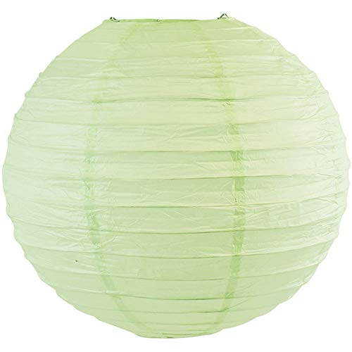 Just Artifacts 12-Inch Mint Green Round Chinese Japanese Paper Lantern (1pc, Mint Green)