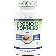 Probio 18 Komplex - Kulturen Komplex mit 18 Bakterienstämmen + FOS - 180 magensaftresistente Kapseln (DRcaps) - 13 Milliarden Milchsäurebakterien pro Tag - Hochdosiert - Vegan - Laborgeprüft