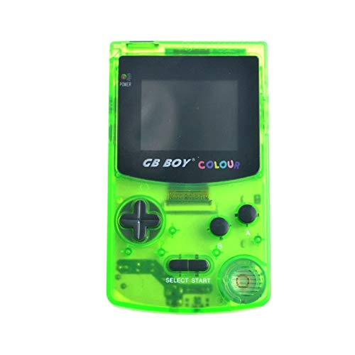 Jhana GB Boy - Console di gioco portatile, console di gioco portatile retroilluminata a 32 bit da 2,7 pollici, 66 giochi integrati, compatibile con scheda standard (verde chiaro)