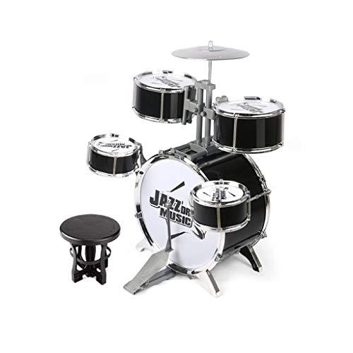 HXGL-Trommel Kinderspielzeug Schlagzeug Beat Toys Musik Rhythmus Jungen Mädchen Musikinstrumente 3-6 Jahre alt (Color : Black)
