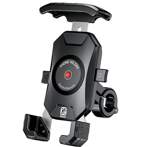 """LUROON Soporte Movil Moto Anti Vibración 360°Rotación Universal Soporte para Movil de Moto Bicicleta Manillar Soporte para Teléfono para Bicicleta para 4.0-7.0"""" Soporte Motocicleta"""