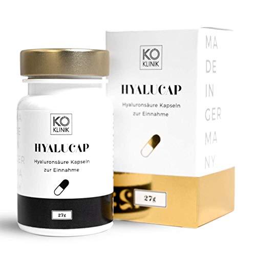 Hyaluronsäure & Kollagen Booster Anti-Aging, Haare & Gelenke – 350 mg Hyaluron + 200 mg Kollagen pro Kapsel, 30 Kapseln, vegan – von KÖ-KLINIK