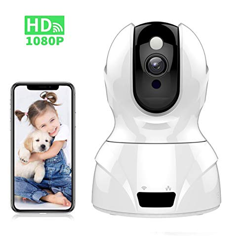 1080P WiFi IP Home Camera, Tovendor Wireless Security System, Smart Baby Elder Pet Monitor with IR Night Vision, 2-Way Audio, Motion Tracking