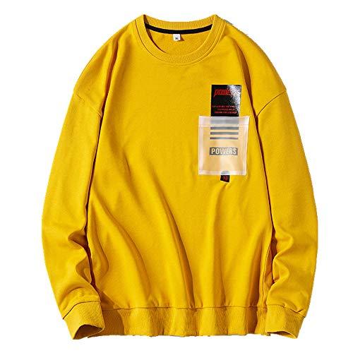 Preisvergleich Produktbild Nobrand Herren Bodyguard für Frühling und Herbst,  atmungsaktiv,  bedruckt,  schlank,  modisch,  Rundhalsausschnitt Gr. Large,  gelb