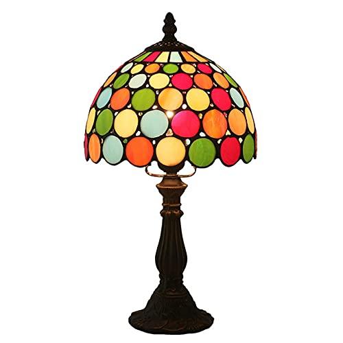 Lámpara De Mesa, 8 Pulgadas Creativa Creativa Estilo Tiffany Estilo Campeón Decorativo para Sala De Estar Dormitorio
