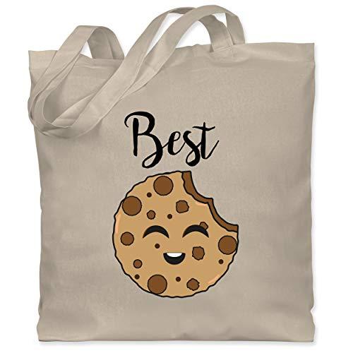 Shirtracer Partner-Look Familie Kind - Best Friends Cookies - Best - Unisize - Naturweiß - XT600_Jutebeutel_lang - WM101 - Stoffbeutel aus Baumwolle Jutebeutel lange Henkel