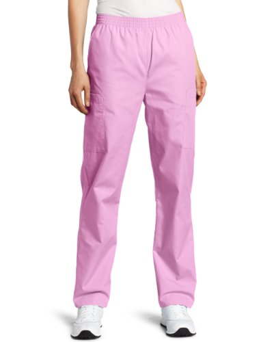 Dickies Scrubs Women's Elastic Waist Pant, Candy Orchid, X-Large