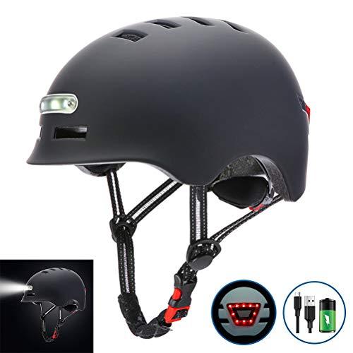 Mowtom Schutzhelme, Kopfschutz Helm mit LED Licht Radfahren Fahrradhelm Elektrisches Rad Skateboard Helm für Radfahren, Laufrad, Skateboard