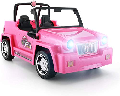 KeepRunning Dolls Accessories - Convertible SUV for Dolls Glittering Fuchsia Convertible Doll Car