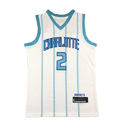 FGSD Hornets # 2 Jersey, Ball Men's Basketball Jersey, 2021 Jugadores de la Temporada Nueva Camiseta de Baloncesto Deportivo Transpirable, S ~ XXL L