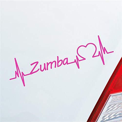Hellweg Druckerei Auto Aufkleber Zumba Herzschlag Tanzen Musik Rhythmus Sport Sticker Liebe Pink