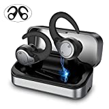 Wireless Earbuds, Bluetooth 5.0 Wireless Headphones [Type-C Quick Charge] IPX7 Waterproof TWS Stereo HiFi Sound Bluetooth Earbuds, 40H Playtime Bluetooth Earbuds with Single/Twin Mode (Black)