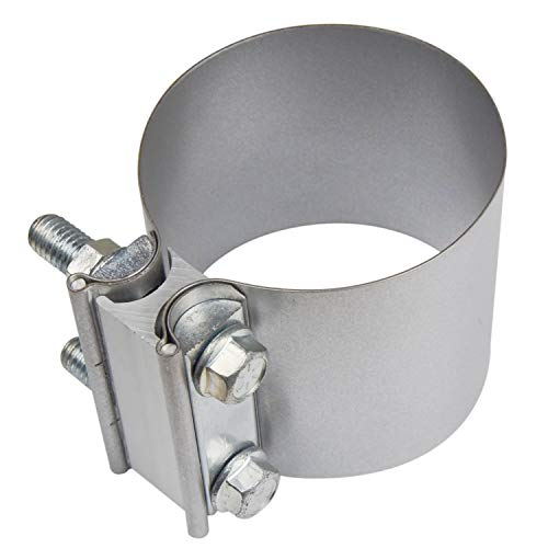 Roadformer 3 Butt Joint Exhaust Band Clamp - Aluminized Steel for 3 OD Exhaust Pipe, Muffler, Elbow and Exhaust Tubing Connection