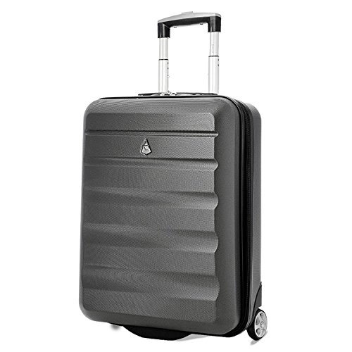 Aerolite 55x40x20cm Ryanair Priority Maximum Hard Shell Hand Cabin Luggage Suitcase 55x40x20 with 2 Wheels - Fits easyJet British Airways Jet2 & More