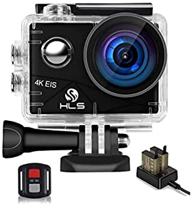 Video Action Camera 4k with Wide Angle Lens,Outdoor Sports Camera with Accessories Mount Kit Battery Charger,HD WiFi Underwater Camera with Waterproof Case Remote (4K)