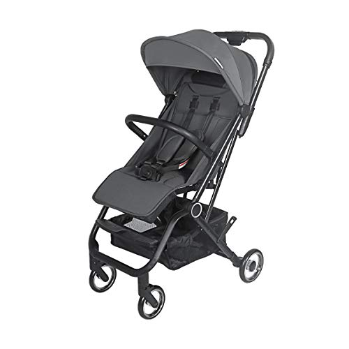COEWSKE Baby Strollers Lightweight Jogger Stroller Cabin Approved Four Wheel Suspension Convertible Baby Carriage Large Storage Single Handed 1 Second to Expand and Fold(Gray)