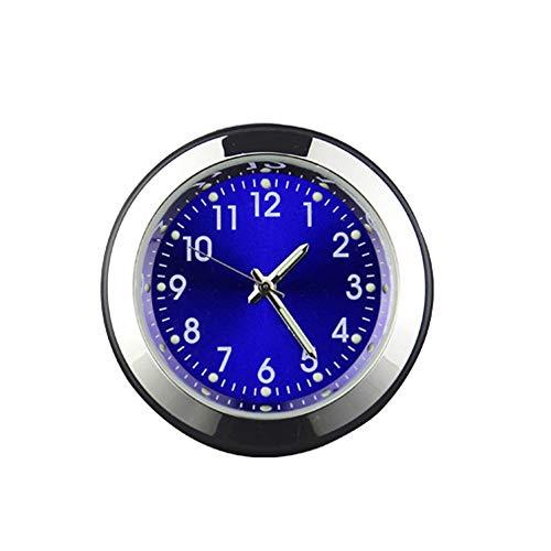Winbang Auto-Uhren, Mini-Auto-Quarzuhr-Uhr-Zeit-Auto-Instrumententafel-Dekorations-Versorgungsmaterialien (Blau)