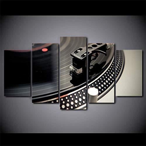 rkmaster-Hd druk 5 stuks canvas kunst Dj muziek CD speler schilderij muziek wandschilderijen woonkamer moderne Cu 2331A