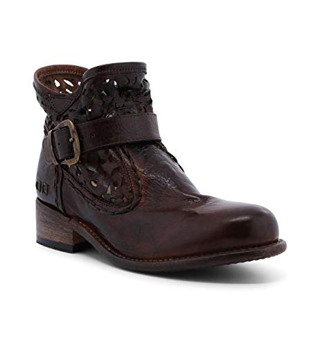 Bed|Stu Women's Heather Leather Ankle Boot (6, Teak Dip Dye)