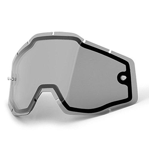 Double écran 100 % pour lunettes de cross Strata, Accuri, Racecraft - Fumé - Taille unique