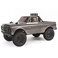 100% assembled and ready to run, the compact SCX24 1/24 scale radio control off-road RC truck with water-resistant electronics is perfect for outdoor or indoor RC adventure Features scale details like working LED lights and officially licensed Method...