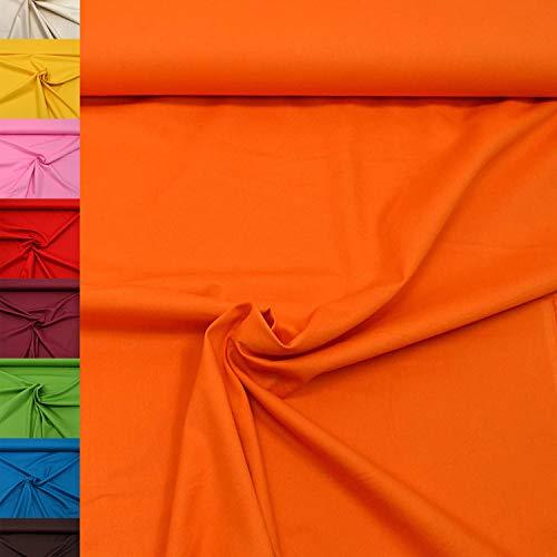 MAGAM-Stoffe Sophie Baumwollstoff Uni 100{f2d393211c7ce8d92c86d1a6bc3b58ee79a50e31f3d28a13bf55a36df61013ff} Baumwolle Oeko-Tex Meterware 50cm (05. Orange)