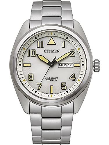Citizen Eco-Drive Herrenuhr Titan Weiß BM8560-88XE