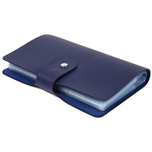 [LASSE MOA] カードケース 大容量 156枚収納 レディース メンズ 名刺ホルダー クレジットカードケース スキミング防止 (ブルー)