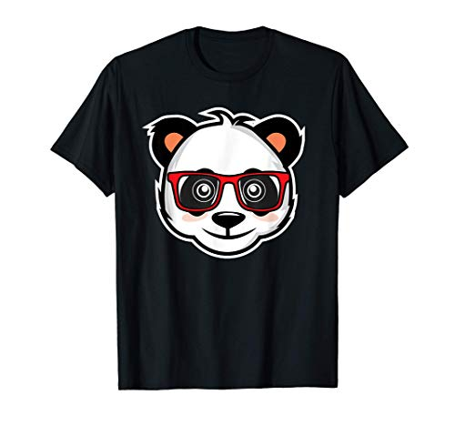 Panda con gafas I Nerd Panda I Oso Panda Camiseta