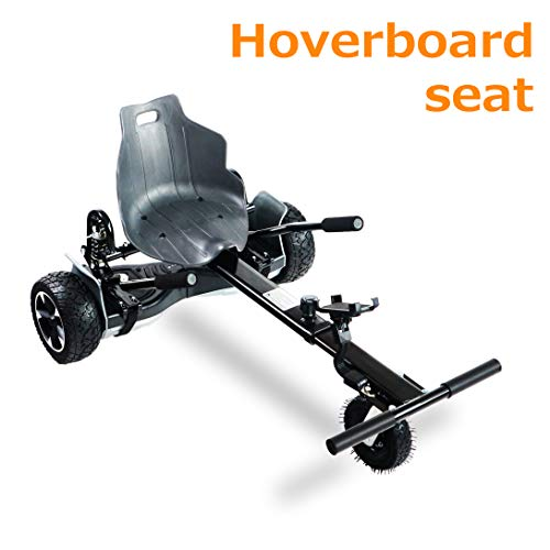 AUBESTKER Hoverboard Go Kart - Compatible with All UL 2272 Hover Board -Hoverboard Seat Attachment Accessory - Adjustable Size Kart - Shock Absorber and Phone Holder