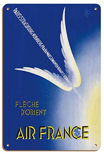 East Arrow (Fleche D'Orient) – Francia – París, Estrasburgo, Nurnberg, Praha, Warszawa – Póster vintage de viaje aéreo por Paolo Federico Garretto 1934-8 pulgadas x 30 cm