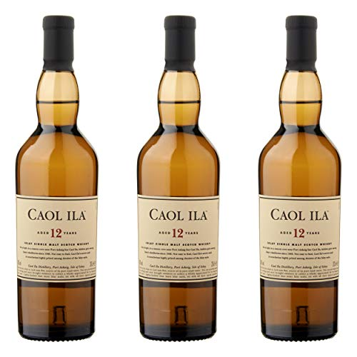 Caol Ila 12 Years/Jahre, 3er, Single Malt, Whisky, Scotch, Alkohol, Alokoholgetränk, Flasche, 43%, 200 ml, 647650